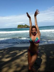Allana Pratt in costa Rica