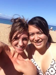 On the beach with Allana Pratt in Maui